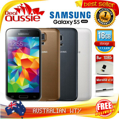 [New Sealed Box]  Samsung Galaxy S5 Mini Sm-G800F 4G Lte Unlocked Phone + Oz Wty