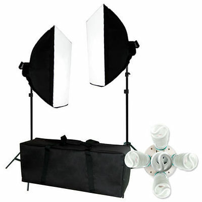 1600w Kit Photography Softbox Light Stand Photo Studio Video Continuous Lighting