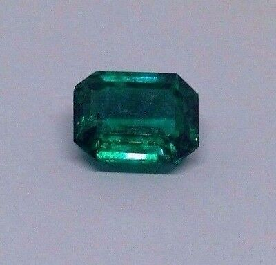 TOP AAA GRADE GREEN COLOUR SYNTHETIC EMERALD 9.65 CTS. 12.5*10*7 mm EMERALD CUT