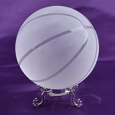 LONGWIN Crystal Basketball Glass Ball for Home Decoration 100mm