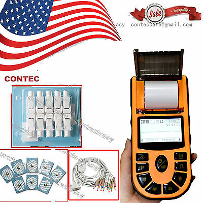 US portable Hand-Held Single Channel 12 Leads ECG/EKG Monitor,with Printer+SW,CE