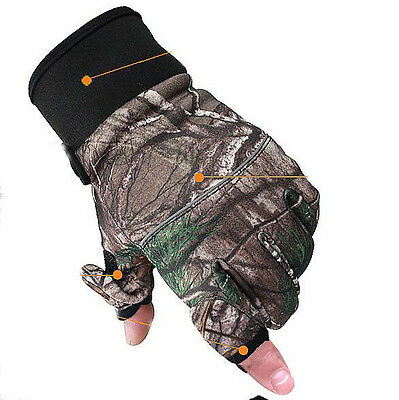 7649 Outdoor Winter Waterproof Bionic Slip Full Finger Gloves Windproof Hunting