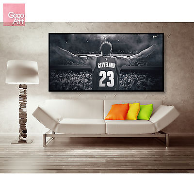 Canvas print wall art panorama photo big poster nba LeBron James wing Cavaliers