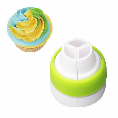 Icing HOT Cream Cake Bag Converter 3-Color Coupler Piping Nozzle Russian Tool