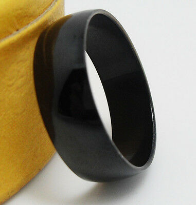 12pcs Black Polish 8MM Stainless steel Band Rings Wholesale Jewelry Job Lots