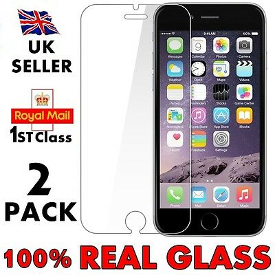 Genuine Tempered Real Glass Screen Protector Protection For Apple iPhone 7 6 6s