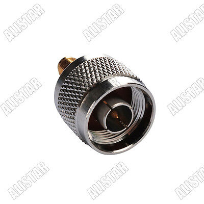 N Male Plug to SMA Female Jack Straight Connector Adapter RF