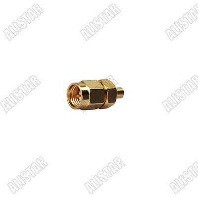 SMA-MMCX SMA male plug to MMCX jack female straight RF coaxial adapter connector