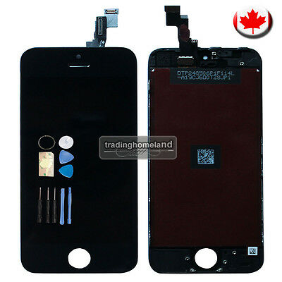 CA LCD Touch Screen Digitizer Assembly Display for iPhone 5S Black with Tool Kit