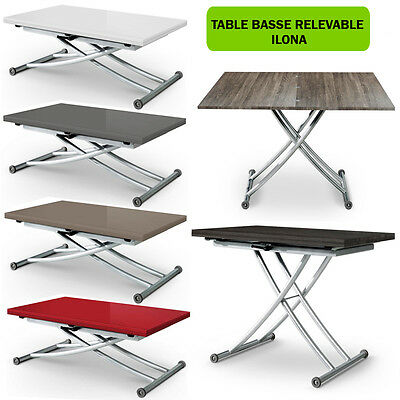 Table Basse Relevable Transformable Ilona Neuf