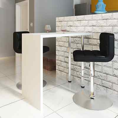 High Gloss Bar Coffee Table Dining Table Wood With 2 Legs White Kitchen Dining