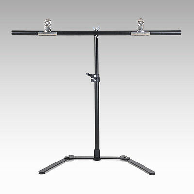 2 clamps+ Photography 68*68cm PVC Backdrop Background Support Stand System Metal