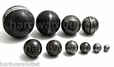 Hollow Spheres Cannon Balls - 2.5mm Thick 10 Sizes Weld On Wrought Iron Fittings