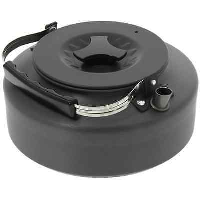 1.5l Litre Lightweight Gun Metal Black Anodized  Aluminum Kettle Camping Fishing