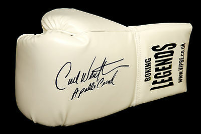 "* New* Carl Weathers ""Rocky"" Signed White Boxing Glove."