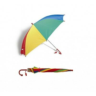 Children's Umbrella Kids School Rain Brolly Gift Rainbow Multicolored + Whistle