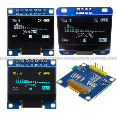 "0.96""/1.3'' SPI Serial /128X64 OLED LCD Display Screen Module Arduino UNO R3 C"