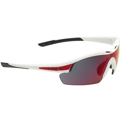 Swiss Eye Sunglasses Novena White Matt & Red Frame 3 Scratch Resistant Lenses