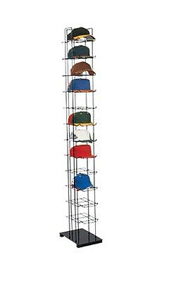 12 Tier Baseball Cap Hat Rack Floor Stand - Cap Tower Display