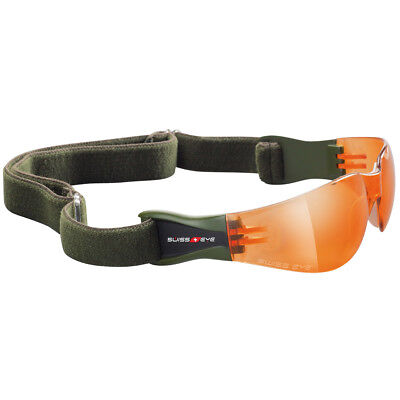 Swiss Eye Ballistic Safety Glasses Tactical Army Outbreak Cross Country Orange