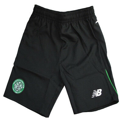 Celtic FC New Balance childrens black woven football training shorts 2015-16