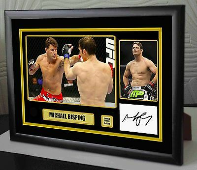 "Michael Bisping UFC canvas tribute signed Ltd. Edition ""Great Gift / Souvenir"""
