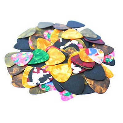100×Acoustic Bulk Guitar Pick Picks Plectrum Celluloid Electric Smooth 0.46mm