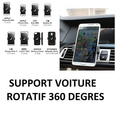 Support Voiture Universel Smartphone Telephone Grille Aeration Air Vent Mount