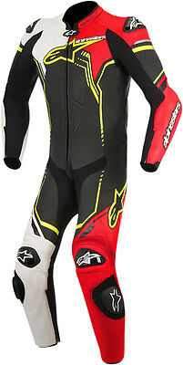 ALPINESTARS 2017 GP PLUS 1-PC Leather Riding Suit (Blk/Wht/Red/Ylw) Choose Size