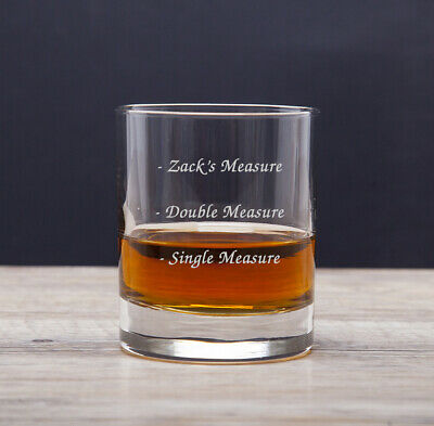 Personalised Engraved Whisky Tumbler Glass 3 Measures Birthday Fathers Day Gift