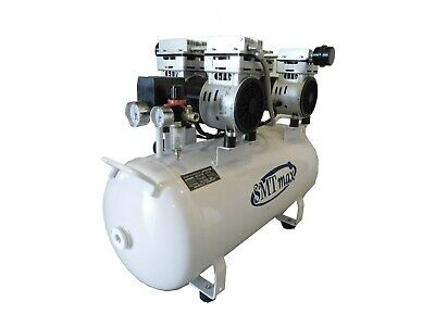 2HP, 12 Gallon, Oil Free & Noiseless Dental Air Compressor (110v)