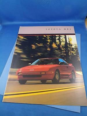 1986 Toyota Mr2 Car Auto Sales Brochure Features Specifications