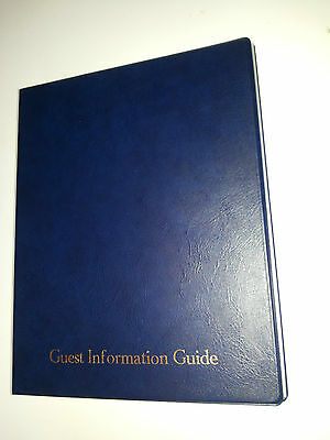 Guest Information Guide Pvc Folder With 25 Pockets Ref Blue/Gold