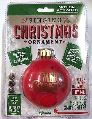 Toysmith Singing L/U Ornament