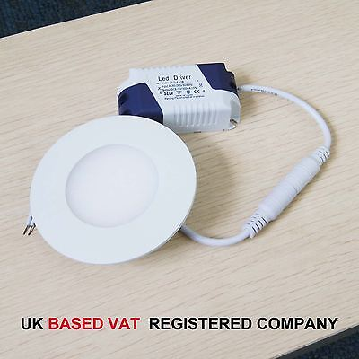 3W To 24W Cool White LED Recessed Ceiling Flat Panel Light Downlight Round