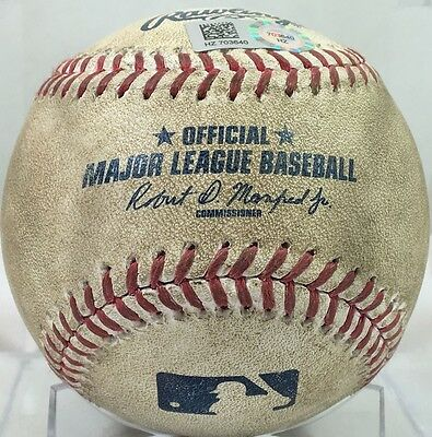 DANSBY SWANSON GAME-USED BASEBALL from 34th MLB AT-BAT 2015 #1 DRAFT PICK BRAVES
