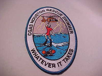 U.s. Coast Guard Air Station Houston Texas Rescue Swimmer Patch