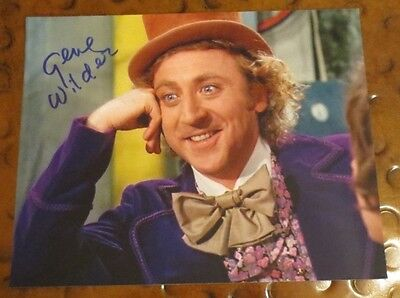 Gene Wilder as Willy Wonka Chocolate & the Factory signed autographed photo