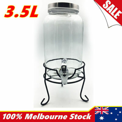 Glass Juice Drink Dispenser Beverage Beer Water Bottle Jar Machine Party Weeding
