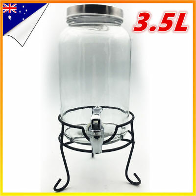 Glass Juice Dispenser Drink Beverage Beer Water Bottle Jar Machine Party Weeding