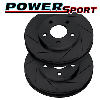 Brake Rotors [2 Rear]POWERSPORT BLACK *SLOTTED ONLY* DISC BE00305