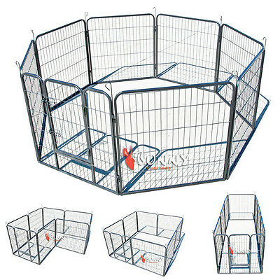 8 Sided Large Heavy Duty Puppy Play Pen Rabbit Whelping Box Dog Cage Fence Hd01M