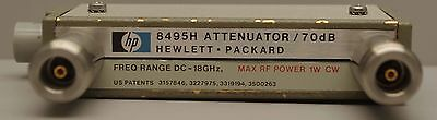 HP / Agilent 8495H-001 Programmable Step Attenuator / 70dB DC to 18 GHz Type N