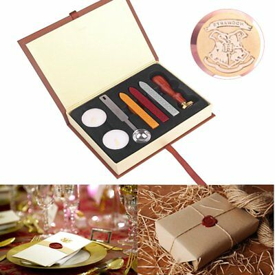 Personalized Retro Harry Potter Hogwarts School Badge Wax Seal Stamp Kit w/ Box
