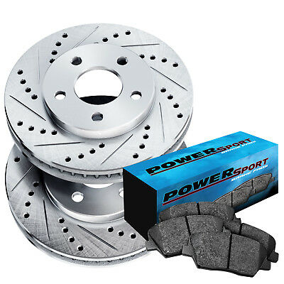 Front Drilled Slotted Brake Rotors and Ceramic Pads 2009-2015 Toyota Venza
