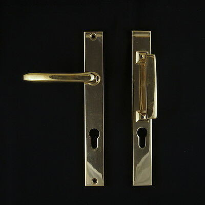 JCB FRONT DOOR Set 20ER Years with Pull Handle Polished Brass 92 PZ antik-griff