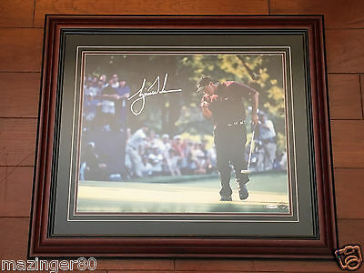 Tiger Woods UDA 16x20 Autographed Framed 2000 PGA Championship Signature BGS 10