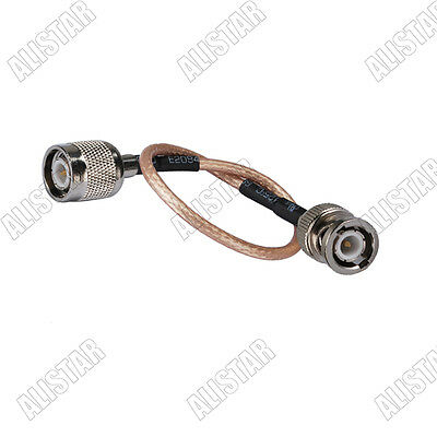 3x TNC male plug to BNC male Straight Pigtail cable RG316 15CM