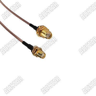 5x SMA female to SMA female bulkhead pigtail Coaxial Cable RG316 for wireless