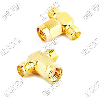 Adapter SMA Splitter / Joiner 3 WAY ADAPTER 2x RP SMA female to male
